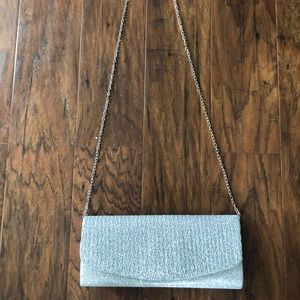 Party purse- silver sparkly